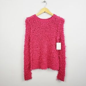 🆕️ Free People Dark Pink Wool Blend Knit Sweater